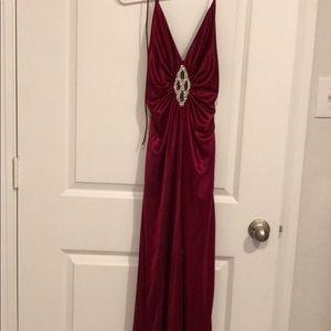 Prom dress burgundy